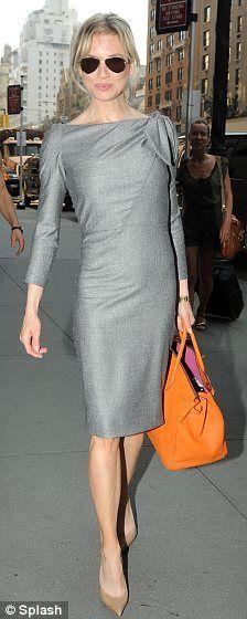 Renee Zellweger in Carolina Herrera dress and Hermes 'Birkin' bag, August 2009