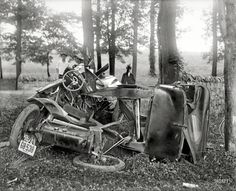 "AUTOS: - Crumple Zone Washington, D.C., or vicinity. ""Auto wreck, 1917."""