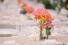 Bud Vase Centerpieces, Simple and Bright