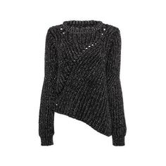 Yoins Yoins Black Jumper (515 MXN) ❤ liked on Polyvore featuring tops, sweaters, black, black jumper, jumpers sweaters, asymmetrical hem top, black sweater e black top