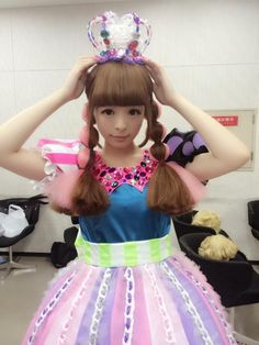 Kyary Pamyu Pamyu~~♥♪♫ Japanese music & fashion icon--!☆★☆ kawaii fashion. . .colorful hair. . .crown