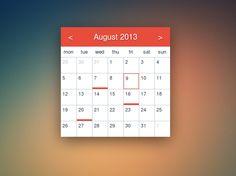 My first flat calendar  Full CSS3