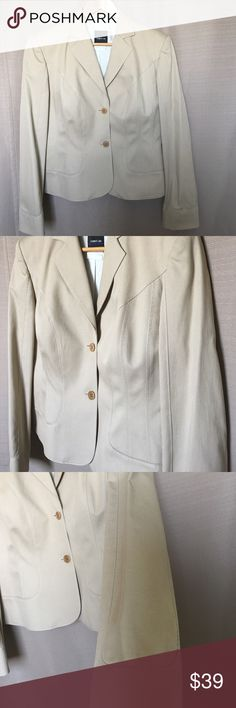 """CERRUTI  HIGH END DESIGNER JACKET New , no tags ! Tan color , Jeans material 100% Cotton  . Hand Wash    made in Italy.  Fits to size 10.  Fully lined.  Shoulder 16,5"""".  Bust 40"""". Waist 34"""".  Bottom 40""""! Cerruti Jackets & Coats"""
