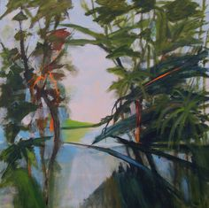 #TROPICAL GARDEN no 1 (Sold) by #Aaselind Acrylics on Canvas. 80 x 80 x 2 cm.