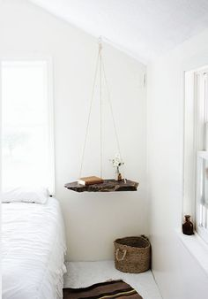Hmmm...I made a swing for my plant but hadn't thought of a bedside table swing!  I like.