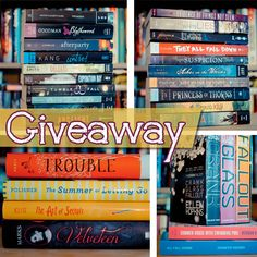 Bookish: Shelf Cleaning Giveaway #2 (4 HUGE prize packs!)