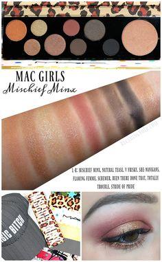 86517acf0591 MAC Girls Mischief Minx Palette Swatches