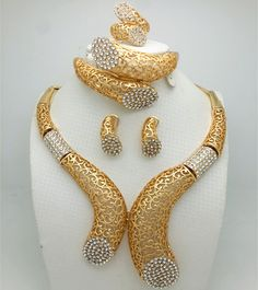 84a48b7d5cfaa8 women wedding jewelry set Picture - More Detailed Picture about Dubai  Nigeria African woman Wedding Jewelry sets Gold color 2017 fashion new  Bohemia style ...