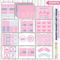 Princess Crown Birthday Party Printables by PinkPickleParties, $30.00