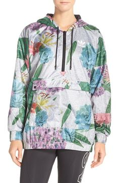ADIDAS ORIGINALS 'Training' Floral Windbreaker Jacket. #adidasoriginals #cloth #