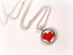 Valentine's Day Gifts for Tween Girls Red Heart Pendant Tween Necklace Tween Jewelry by foreverandrea,