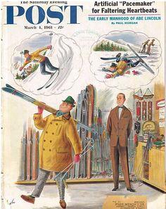 The Saturday Evening Post  March 4 1961 Constantin Alajalov Vintage Americana