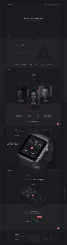 Website creation for Mobilex - Dark, dark, dark, with pops of color. I think this is a little extreme, but like it. Web Design Black, Clean Web Design, Web Design Examples, Web Design Tips, Flat Design, App Design, Website Design Layout, Website Design Inspiration, Web Layout