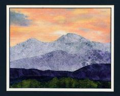 Quilts by JVC ..||.. PATTERNS - Little Landscape Longs Peak Sunset Close-ups