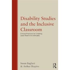 Disability Studies and the Inclusive Classroom #education #disabilitystudies #inclusion