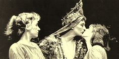 Antony and Cleopatra.  (L to R) Margot Lester as Charmian.   Vanessa Redgrave as Cleopatra.  Madalyn Morgan as Iras.