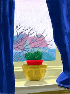 (UK) iPad digital work by David Hockney ). David Hockney Ipad, David Hockney Art, David Hockney Paintings, Plant Drawing, Painting & Drawing, Encaustic Painting, Illustrations, Illustration Art, Pop Art Movement