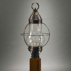 Northeast Lantern Onion Caged Pear 3 Light Lantern Head Finish: Dark Brass, Shade Type: Clear