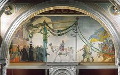 Gustav Vasas Triumphal Entry Into Stockholm, Frescoes by Carl Larsson Sweden) Carl Larsson, Sargent Art, John Singer Sargent, Triumphal Entry, Swedish Interior Design, Pagan Gods, Large Painting, Museum Of Fine Arts, Best Photographers