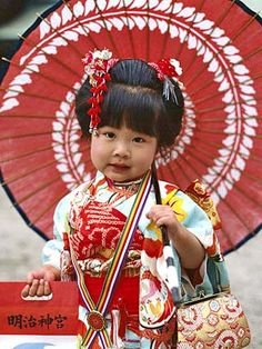 Girl dressed in a kimono at the Shichi-Go-San Festival, Japan. Precious Children, Beautiful Children, Beautiful Babies, Beautiful People, Young Children, Kids Around The World, We Are The World, People Of The World, Little People