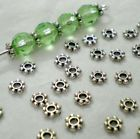 Lots 200pcs Tibetan Silver Daisy Spacer Metal Beads 4mm Jewelry Making Silver