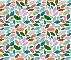 Andes - Leaves Scattered fabric by joyfulrose on Spoonflower - custom fabric