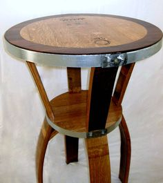 Wine Barrel Bistro Table by TheValleyBarrel on Etsy, $375.00