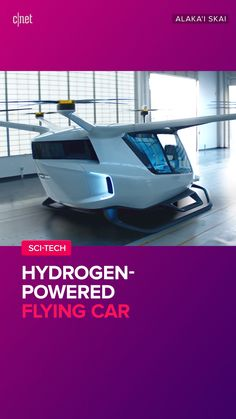 Cars Discover A Hydrogen-powered flying car. Skai if built would mark the first appearance of hydrogen fuel cell power in an aircraft. Drone Technology, Futuristic Technology, Futuristic Cars, Personal Helicopter, Hydrogen Car, Future Transportation, Transportation Technology, Flying Vehicles, Flying Car