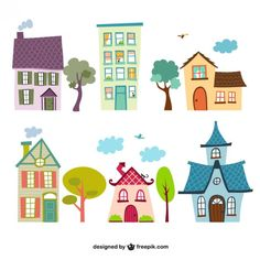Buy Cartoon House Set by VectorWorld on GraphicRiver. Cartoon House Set Vector Illustration Available in: . House Illustration, Illustrations, House Vector, Game Background, House Quilts, Cartoon Design, Happy Kids, Cute Cartoon, Doodles