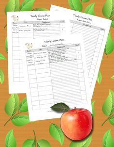 Our Homeschool Planner - How to Use, Yearly Course Plan, More