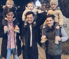 LtoR: Josh with Tayte, Donny with Benson, Chris with Daxton. Dec.2015.