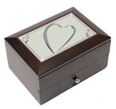 Ékszertartó doboz, ékszerdoboz többféle fém díszítéssel és fiókkal