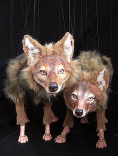 Coyote Marrionettes by Deborah Simon
