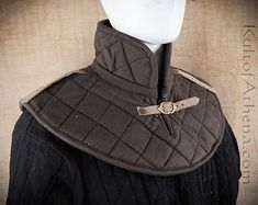 Padded Gambeson Collar - Brown