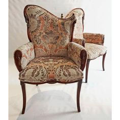 From The Furniture Company That Gave Us Beginnings Of Hollywood Regency A Lovingly Red Pair Lyrical Bergere