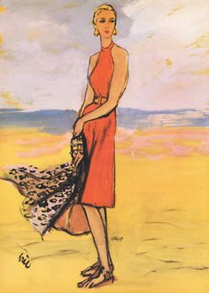Eric (Carl Erickson) Illustration for Bonwit Teller Department Store 1944