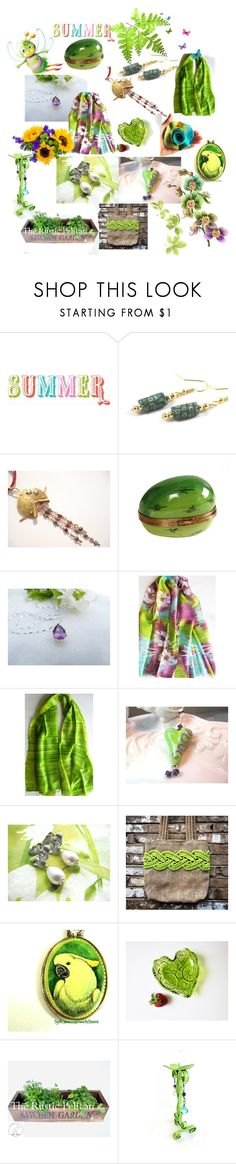 """""""Summer Pretty Gifts"""" by anna-recycle ❤ liked on Polyvore featuring modern, rustic and vintage"""