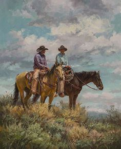 Making Plans by Shawn Cameron Oil ~ 20 x 16