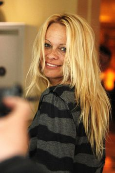 Pamela Anderson without makeup.  #nakedfaceproject