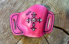 Pink gun holster with custom design by pinkpistolholsters.com