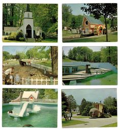 Miniature Storybook Gardens Postcards   Set Of 6 (London, Ontario, Canada) #