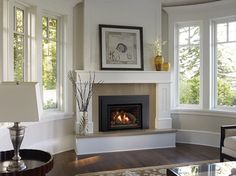 8 Innovative Clever Tips: Fixer Upper Fireplace Shiplap victorian fireplace black.Corner Fireplace Next To Window rustic fireplace living room.Fireplace Design With Hearth. Corner Gas Fireplace, Paint Fireplace, Small Fireplace, Fireplace Hearth, Fireplace Remodel, Fireplace Inserts, Fireplace Mantle, Living Room With Fireplace, Fireplace Surrounds