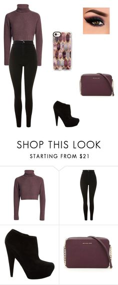 """Untitled #268"" by marie-g05 ❤ liked on Polyvore featuring Topshop, Yves Saint Laurent, MICHAEL Michael Kors and Casetify"