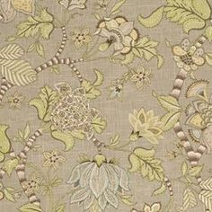 I just recovered an accent chair with this fabric as the top (back) with nailhead trim. More lovely in person. The seat is recoverd in a heavy yellow diamond fabric.