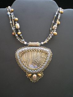 So excited this necklace found its forever home through Lapis Lane Beads in Austin, TX. beautiful beading by Nora Pero