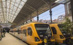Trens na Estação de São Bento no Porto, de onde partem as viagens regionais (Foto: Ora, Pois!)
