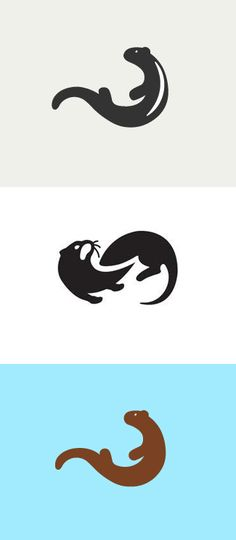 Otter Illustrations - shapes