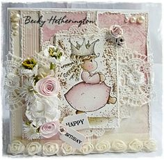 Live & Love Crafts Inspiration and Challenge Blog...oh, how I do love Magnolia stamps.  Pretty card!!