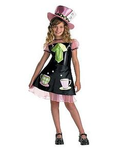 Mad Hatter Costume for Child | Cheap Fairytale Halloween Costume for Girls Costumes