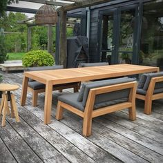 Outdoor Couch, Diy Outdoor Furniture, Outdoor Dining Set, Wood Furniture, Outdoor Decor, Plywood Wall Paneling, Modern Couch, Building Furniture, Best Dining